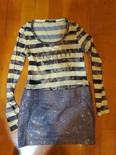 Knit wear one piece dress for winter Size M