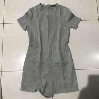 bershka grey jumpsuit