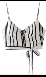 Eliza Monochrome Crop Top