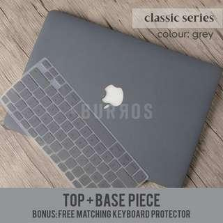 📣INSTOCKS📣Grey Macbook Laptop Hard Shell Case Apple Protector available for all models