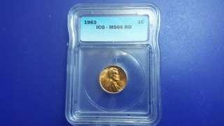 已減價美國1964年林肯總統壹仙士銅幣