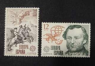 Spain 1979. EUROPA Stamps - Post & Telecommunications complete stamp set