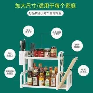 多功能双层厨房置物架