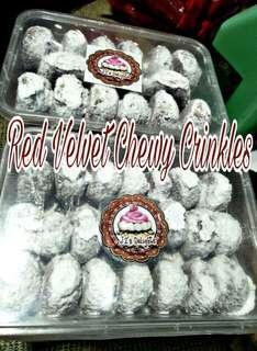 Red Velvet Chewy Crinkles