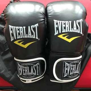 Everlast boxing gloves with drawstring bag