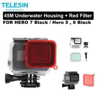 🚚 Gopro 45m underwater housing with Red Filter for Hero 7 Black Hero 6 Hero 5