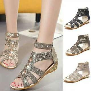 Sepatu high heels gladiator