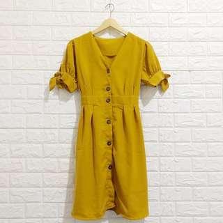 Anne Button Dress