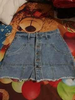 Skort Button Jeans