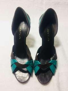 Janilyn brown and bluegreen shoes