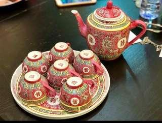 """Double Happiness"" Tea Set"