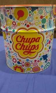 Chupa chups birthday tin can