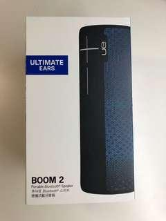 全新未用過,有保養,買一送一-- Ultimate Ears BOOM 2 便攜藍牙 Speaker