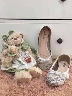 Flats Bahan Lace Warna Putih