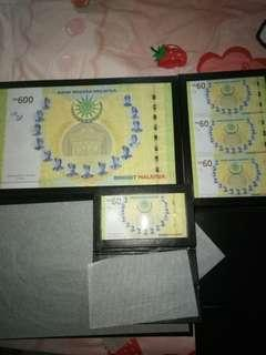 Rm600 commerative banknotes set