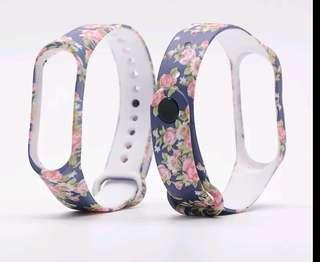 Blue Rose Pattern strap for Miband 3