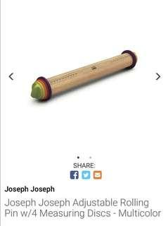 Joseph Joseph Adjustable Rolling Pin with 4 Measuring Discs