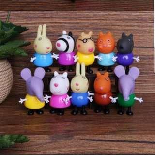 Peppa pig 10 friends toy figurine