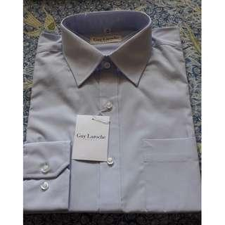 GUY LAROCHE (NEW) Men Light Blue Long Sleeve Shirt#OCT10
