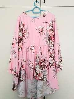 Floral Top in Curve Size