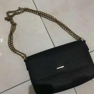 bershka black glamour bag