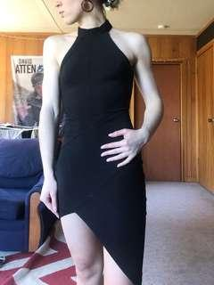 Black formal 21st tight bodycon dress size 6 XS