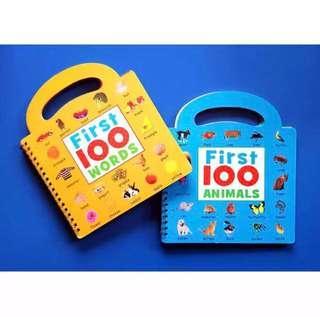 First 100 Words/First 100 Animals Books Set