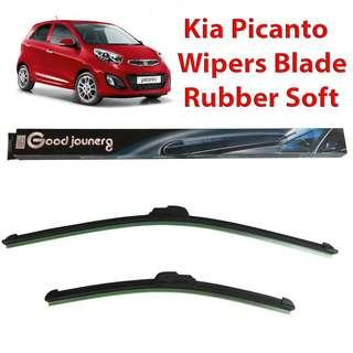 Wiper Blades for Kia Picanto Windshield Wipers Soft Rubber Blade Bracketless