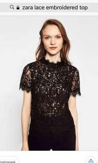 ZARA Lace Embroidered Top