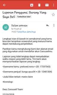 Bantu like ya🙏[Part III] Penjual tak bertanggung jawab! [Report to Carousell Team]