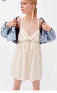 ZARA Tie Front Romper Dress