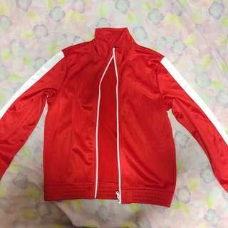 h&m red track jacket