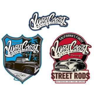 [Pre-Order] West Coast Customs Licence Collection Metal Signs - Made In USA (Read Description)