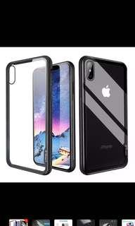 iPhone X/XS Slim Tempered Glass Case