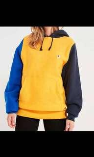 Blue Yellow Black Champion Hoodie