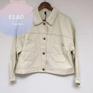 Denim white  Jacket 牛仔 外套