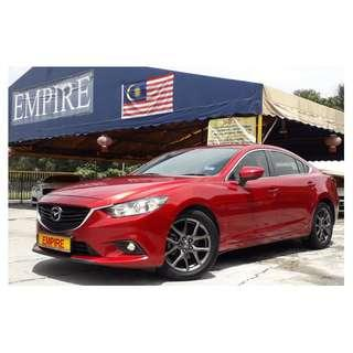 MAZDA 6 2.0 ( A ) NEW MODEL SKYACTIV NEW FACELIFT !! CBU !! PREMIUM FULL HIGH SPECS !! DONE ONLY 48,268 KM ONLY !! FULL SERVICE RECORD !! ( WX 6613 X ) 1 CAREFUL OWNER !!