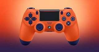 PS4 DUALSHOCK 4 SUNSET ORANGE SPECIAL EDITION