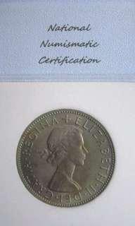 Coin Great Britain 1967 1/2 crown Gem + Unc