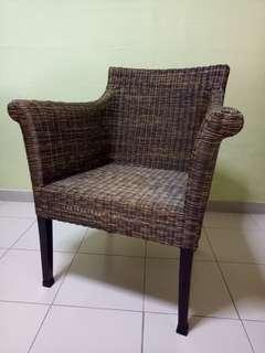 European rattan chair
