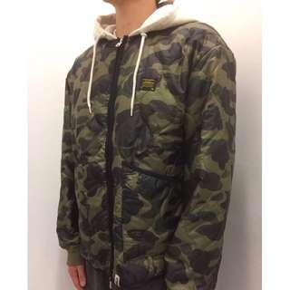 BAPE 1ST CAMO QUILTING HOODIE JACKET
