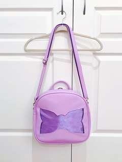 [RARE FROM JAPAN] Bow Tie Shaped Ita Bag (Purple)