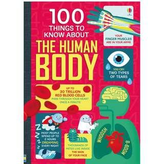 🚚 (BN) Usborne: 100 things to know about the human body (age: 9+)
