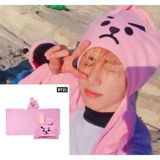BT21 BTS Cute Hooded Towel / Hoodie / Hat / Cap