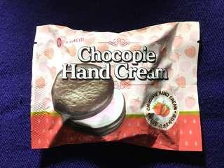 🚚 現貨the SAEM 巧克力派護手霜/ 草莓味/韓國正貨 只有一個,全新未拆封使用