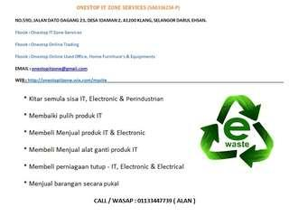 We buy IT waste, Office waste, Electronic / Electrical waste & Industrial waste - Recycling