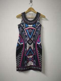 F block printed dress