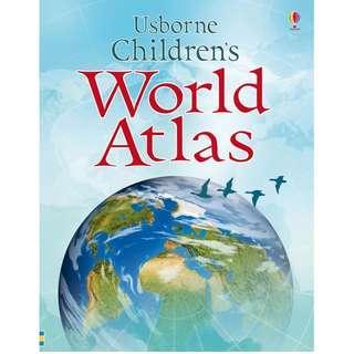 🚚 (BN) Usborne: Children's World Atlas (age: 8+)