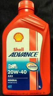 Shell Advance AX3 20W-40  4T Mineral Engine Oil 1 Litre #EVERYTHING18