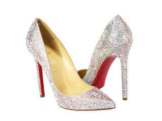 Christian Louboutin Crytal Pigalle Heels